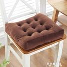 坐墊 冬季加厚防滑餐椅墊椅墊學生榻榻米墊教室方形凳子辦公室坐墊毛絨【果果新品】