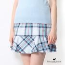 拼接荷葉下擺格紋裙 Scottish House【AA2115】