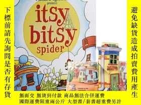 二手書博民逛書店英文原版罕見Itsy Bitsy Spider 小小蜘蛛 幼兒啓