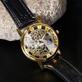男士新款復古鏤空裝飾手錶女士時尚腕錶情侶款男女式夜光石英錶-享家生活館