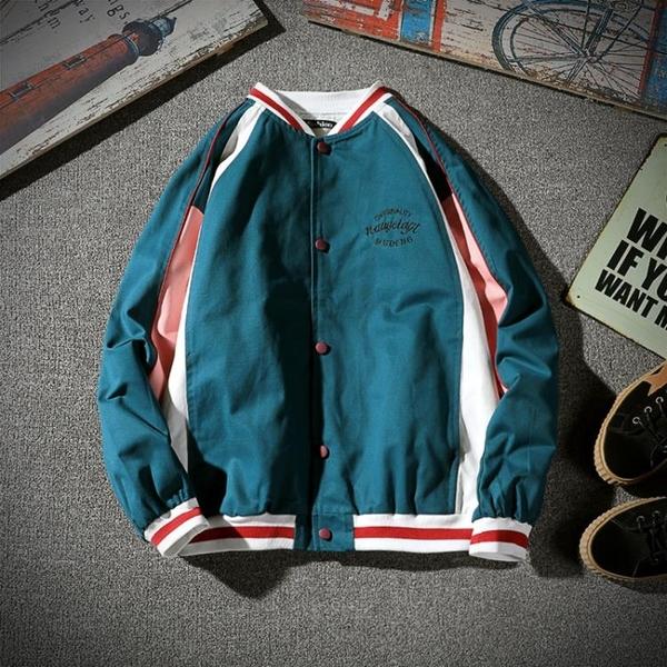 棒球外套 新款青少年寬鬆休閒夾克