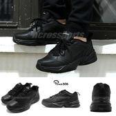 Nike Air Monarch IV 黑 全黑 Dad Shoes 復古老爸鞋 皮革 男鞋 運動鞋【PUMP306】 415445-001