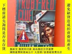 二手書博民逛書店THE罕見RUBY RED CLUE(紅寶石線索)英文原版Y15