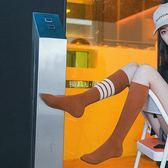 長筒襪子女韓國日系街頭潮流不對稱AB襪純棉冬秋款中高筒襪網紅襪