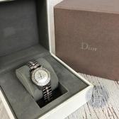 BRAND楓月 Christian Dior 迪奧 CD1211 珍珠母貝鑽圈女錶 淡粉銀錶 QZ 手錶 腕錶