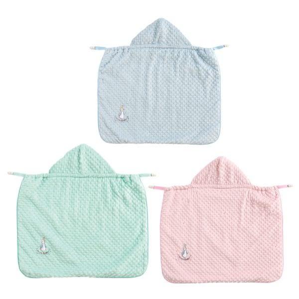 奇哥 比得兔 豆趣多功能披風/防風/禮盒/彌月禮盒/送禮(粉/藍/綠) 附奇哥提袋