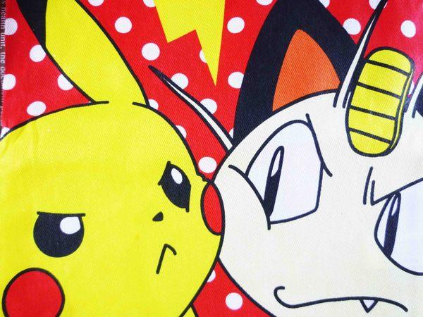 【震撼精品百貨】神奇寶貝_Pokemon~束口袋-皮卡丘&喵喵(紅)