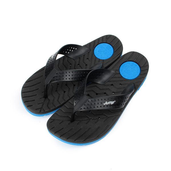 JUMP 透氣排水夾腳拖鞋 黑 7001-JP072 男