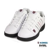 K-SWISS 新竹皇家 Eadall 白色 皮質 黑底 休閒鞋 男款 NO.B0199