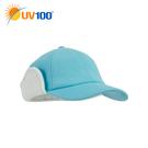 UV100 防曬 抗UV 保暖毛絨護耳鴨舌帽-女