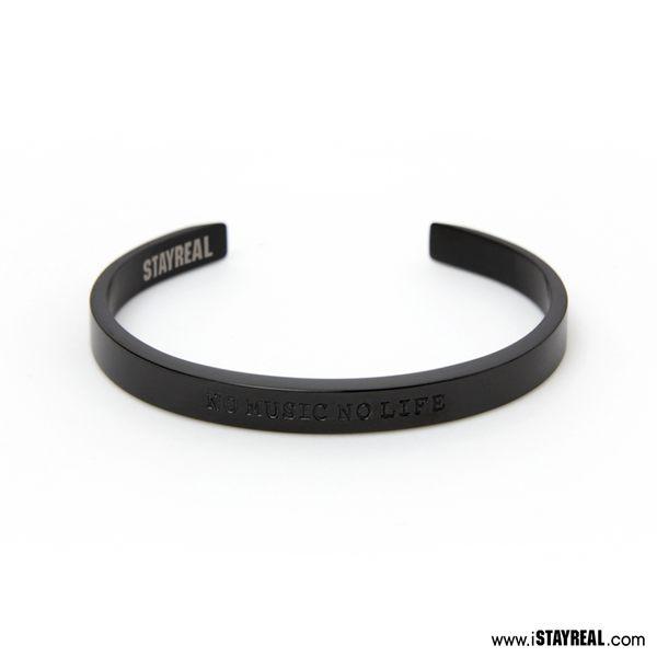 STAYREAL 音樂即生活手環 - 黑鐵