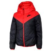 NIKE Sportswear 女裝 羽絨外套 連帽 雙面 保暖 黑紅 【運動世界】939439-657
