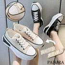 PAPORA休閒厚底增高休閒舒適鞋KS7812黑/米