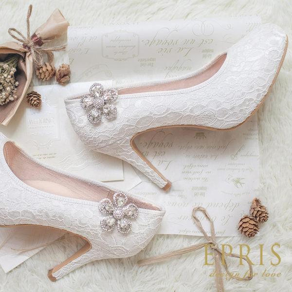 甜美華麗五花瓣水鑽立體花鞋扣鞋飾鞋花
