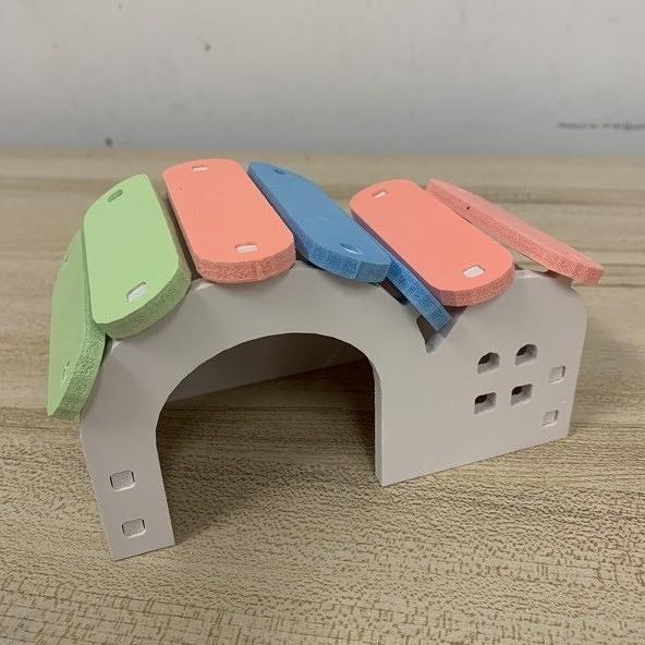 倉鼠生態木雙頂彩虹屋倉鼠睡窩倉鼠房加卡屋(777-5400)