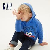 Gap男幼棉質毛圈布內裡連帽衫544943-航太藍