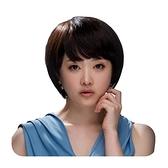 整頂假髮(真髮絲)-斜瀏海短直髮百搭自然女假髮2色73vc15【時尚巴黎】