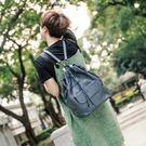 真皮後背包-大容量束口多功能牛皮女水桶包3色73wt15【巴黎精品】