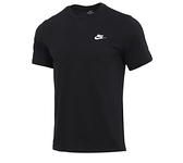 NIKE系列-NSW CLUB TEE 男款黑色運動短袖上衣-NO.AR4999013