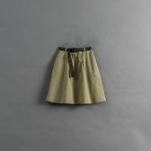 Queen Shop【03020804】童裝 親子系列 釦環腰帶長裙 兩色售 S/M/L*現+預*