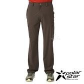 PolarStar 男 彈性吸排UV機能長褲『綠卡其』P21367 戶外 休閒 登山 露營 運動褲 釣魚褲