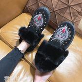 雪地靴雪地靴女皮毛一體秋冬新款短筒短靴加厚保暖平底鞋子女鞋棉鞋 一件免運