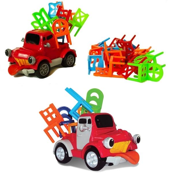 Pick-Up 益智玩具 移動中的車子 VS堆疊的椅子