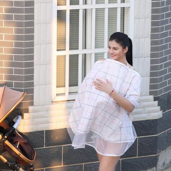 哺乳巾-喂奶巾哺乳遮擋巾哺乳巾夏透氣防走光遮巾斗篷蓋紗布浦輔乳巾薄款  生日禮物