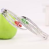 手鍊 925純銀水晶銀飾-閃亮絢麗生日情人節禮物女手鏈8色73ak98【時尚巴黎】