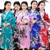女童和服 印花兒童傳統復古民族舞蹈演出表演服裝攝影服日式浴衣LXY4082【Rose中大尺碼】