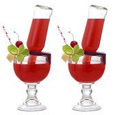 HYU雞尾酒卡扣杯玻璃杯高腳杯創意飲料杯果汁杯超大啤酒杯扎啤杯