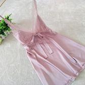 新品性感睡衣女夏絲綢家居服蕾絲花邊吊帶睡裙女冰絲情趣誘惑純色