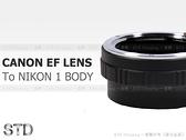 EGE 一番購】CANON EOS EF鏡頭轉NIKON 1機身轉接環【標準版】