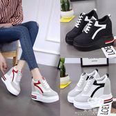 內增高鞋 網面超高跟運動鞋松糕底韓版休閒鞋