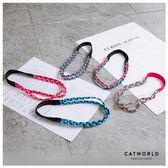 Catworld 亮眼配色編織雙條運動髮帶【17001501】‧F*特價