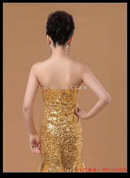 (45 Design)       7天到貨   新款婚紗禮服抹胸魚尾長款演出服新娘結婚敬酒宴會晚修身禮服