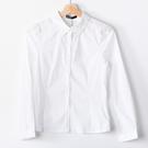 【MASTINA】簡約尖領長袖襯衫-白