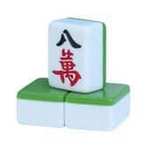 一級品家用麻將牌 大號手搓墨綠色 cf