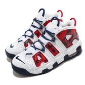 Nike 籃球鞋 Air More Uptempo 白 藍 紅 女鞋 大童鞋 大Air 【ACS】 CZ7885-100