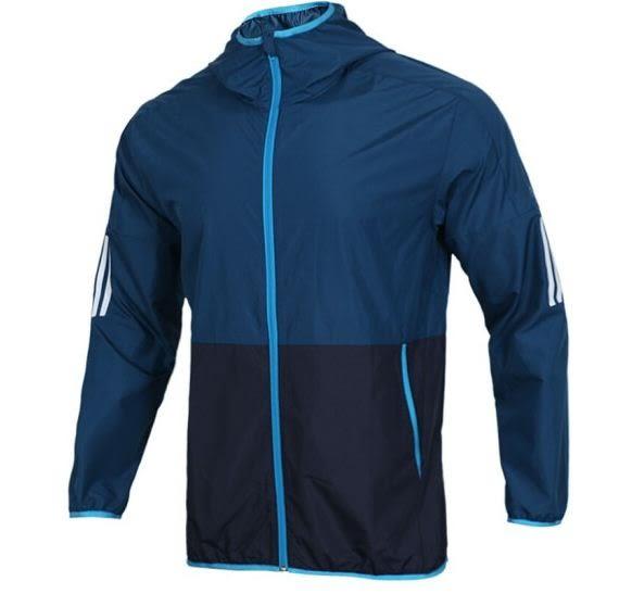 Adidas男款運動外套 藍-NO.DV1047