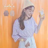 LULUS-L韓製-配色橫紋圓領T恤-2色  現+預【01018087】