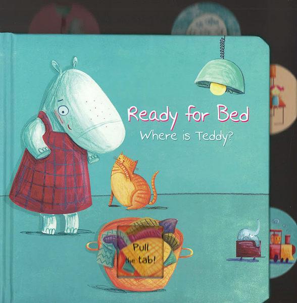 【睡前:拉拉操作書】READY FOR BED WHERE IS TEDDY /硬頁操作書 (1歲以上適用)