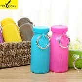 戶外旅行必備硅膠折疊杯子 便攜折疊伸縮水杯 創意運動水壺有蓋  百搭潮品