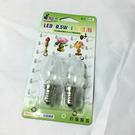 LED E12燈泡0.5W-2入(白光)
