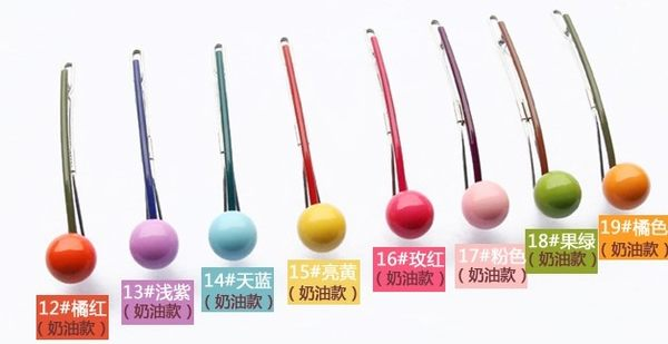 [協貿國際]  韓式糖果圓球髮夾橫夾飾品髮飾 (3個價)