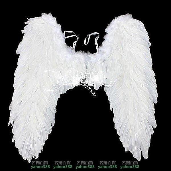 W百貨萬聖節 表演 演出 舞台 大號黑色羽毛翅膀 天使翅膀80 80cm cosplaMY~416