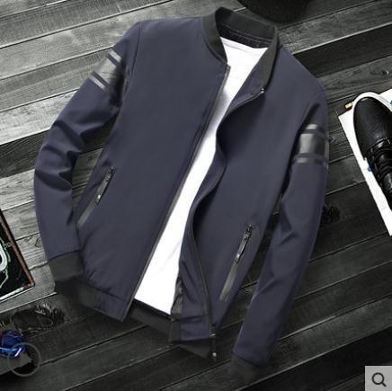外套 外套男春秋裝上衣韓版潮流帥氣男棒球服冬季新款男士運動休閒夾克 玫瑰