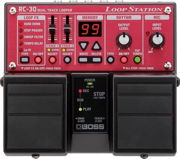唐尼樂器︵ BOSS RC-30 Loop Station 樂句循環工作站 效果器 RC-30