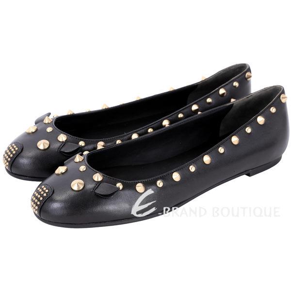 MBMJ Mouse 老鼠造型鉚釘裝飾平底芭蕾舞鞋(黑色) 1610337-01
