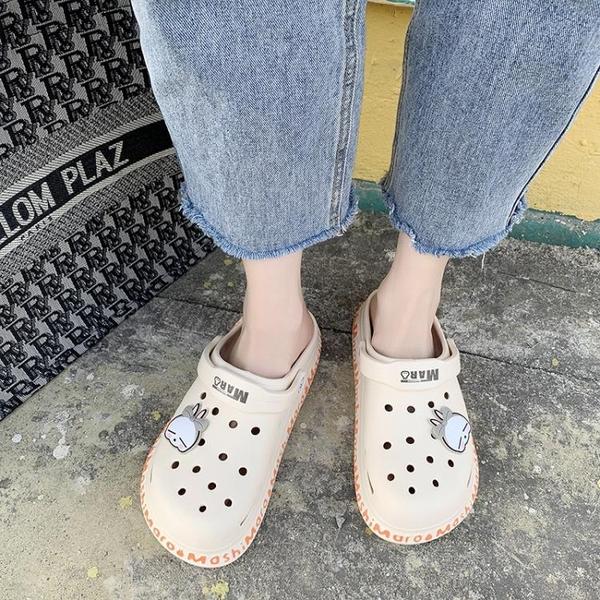涼鞋2021年新款超火ins潮女士夏季仙女風外穿運動百搭平底洞洞鞋 蘇菲小店